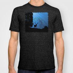 Moon & Deer T-shirt/Tank top (male/female) - JUSTART on Society6