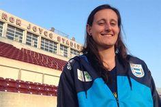 """Elisabeth Minnig, arquera de la selección de fútbol: """"Hay que romper con el machismo"""" - Juegos Panamericanos. July 17, 2015."""