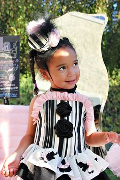 Girly Circus custom Party Hats from Nevaeh's Baby Couture Boutique
