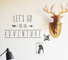 Let's Go On an Adventure - WALL DECAL – The Lovely Wall Company
