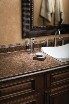 stone counters & copper sinks | laminate countertop, countertop
