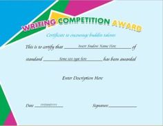 Writing competition award certificate template for ms word download writing competition award certificate template for ms word download at httpcertificatesinn yelopaper Gallery