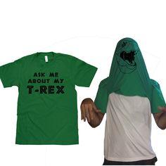 Fab.com | T-Rex Face Flipover Tee - I want one please. kthnx