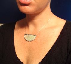 Half Moon Luna Moth Necklace  Real Butterfly Jewelry by neile, $85.00