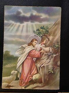 Scripture Cards, Prayer Cards, Christian Messages, Christian Faith, Première Communion, Jesus Pictures, Art Base, Jesus Loves Me, Vintage Easter