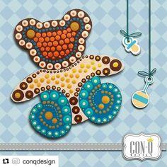 Los invitamos a seguir a  @conqdesign encontrarán muchas cosas hermosas  #Repost @conqdesign  Hermoso oso  de llavero ideal para los recuerditos de nacimiento y baby shower  #ConQdesign  by @claudia_cassani  Pedidos vía email & whatsapp [ver perfil]