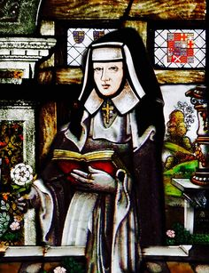 BRIDGET OF YORK, NUN:  (10 November 1480 – 1517) was an English princess, the tenth child and seventh daughter of Edward IV of England and Queen Elizabeth Woodville.  Her parents may have decided at the time of her birth that this daughter would be dedicated to a religious life, and Princess Bridget was entrusted to Dartford Priory, Dartford, Kent sometime between 1486 and 1492. She became a nun.