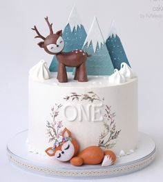 Cake Fondant, Buttercream Cake, Xmas Cakes, Animal Cakes, Pastry Cake, Cake Creations, Beautiful Cakes, First Birthdays, Cake Decorating