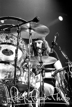 John Bonham of Led Zeppelin. Photo by Robert M. Knight. Seattle. 1972.