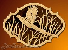 thanksgiving scroll saw patterns | Pheasant plaque