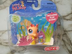 Littlest pet shop seahorse with scene