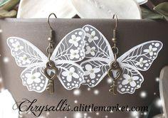 Boucles d'oreilles papillon Style féérique : Boucles d'oreille par chrysallis