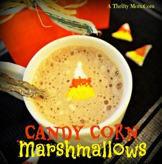 Yummy and adorable candy corn marshmallows
