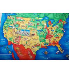 Novelty cotton fabric world map panel ann fabrics and school novelty cotton fabric 36 usa map panel at joann gumiabroncs Image collections