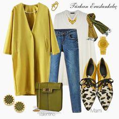 Türkan Eraslankılıç: Kombinlerde Stil İzleri The clothing culture is fairly old. Modest Outfits, Classy Outfits, Chic Outfits, Fashion Outfits, Street Hijab Fashion, Muslim Fashion, Modest Fashion, Trend Fashion, Daily Fashion
