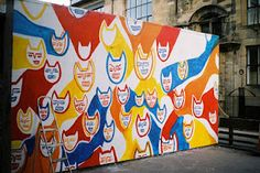 Painted Wall In Glasgow by Annie Rickard Straus