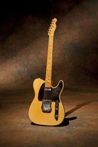 This is a 1954 Fender Telecaster. This is the last of the legendary blackguard series.