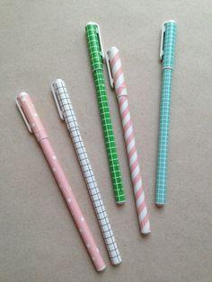 Patterned Pens / Urbanic Paper Boutique @Audrey Woollen | Urbanic Paper