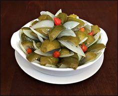 Salada de Jiló e Cebola em Conserva
