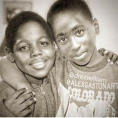Biggie and Pac. Childhood besties.