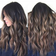 Just love this girl's hot chocolate balayage hair! A hair color like this is a sure fire to amp up your sex appeal. Another? Ideas form TerrificTresses.com.