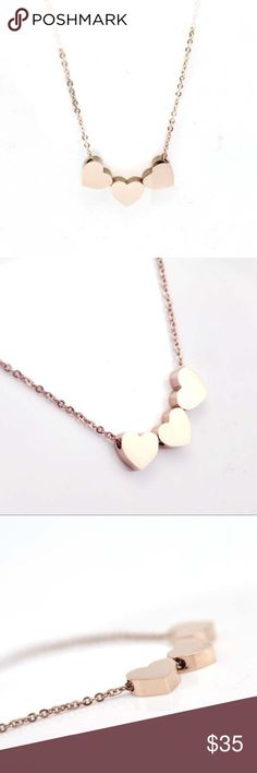 """14kt gold plated heart necklace  ❤️ Features 16"""" long chain and 0.25"""" wide and tall each charm Product Dimensions 4.4 x 2.5 x 1 inches Item Weight 0.3 ounces Shipping Weight 0.3 ounces Danie Collection Jewelry Necklaces"""