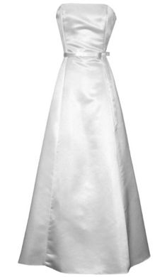 Would make a very nice simple Bride's gown;  dress it up with a beautiful necklace & simple veil.  50's Strapless Satin Long Gown Bridesmaid Prom Dress Holiday Formal Junior Plus Size, 3X, White PacificPlex,http://www.amazon.com/dp/B00144GCOO/ref=cm_sw_r_pi_dp_j9cysb10P0MJ6AYQ
