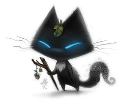 Daily Paint #636. Sidhe Cat - Quickie by Cryptid-Creations