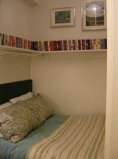 Clever book storage I need this