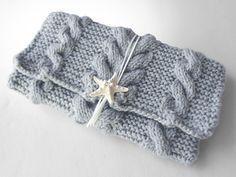 knitted clutch bag *inspiration / ニットクラッチバッグ-Debu(L)-LGY - Beyond the reef 一つ一つ丁寧に編み上げるハンドメイドのクラッチバッグ
