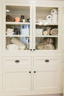 Custom Linen Built-In for Master Bath | by REDBUD Construction Services