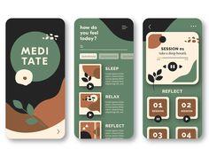 Mobile App Design by Maja Glinicka on Dribbble Web Design, App Ui Design, Mobile App Design, Interface Design, Book Design, Android App Design, Graphic Design, App Design Inspiration, Book Layout