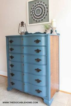 This Is A Beautiful Dresser That Has Been Completely Refinished With A  Whale Gray Paint From