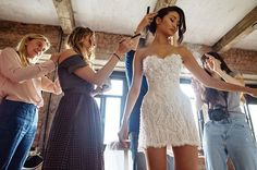 """This Model Said """"I Do"""" in a Pink Wedding Gown, Then Made 1 Simple Style Switch For the Reception"""