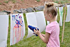 Squirt Gun Painting Tutorial - Lou Lou Girls