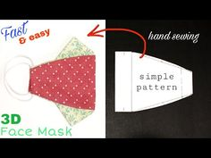 [hand sewing] How to make a face mask at home At Home Face Mask, Easy Face Masks, Diy Face Mask, Easy Sewing Patterns, Sewing Tutorials, Sewing Projects, Tutorial Sewing, Mascarilla Diy, 3d Face