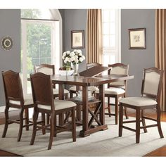 Found it at Wayfair - Amelie 7 Piece Counter Height Dining Set