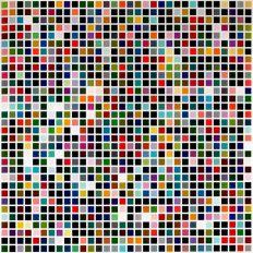 Gerhard Richter, 1024 Farben, 1973 299 x 299 x 5 cm, Lackfarbe auf Leinwand