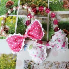 Pearl Beaded Neck Bow Tie Necklace Leash Collar for Dog Jewelry and Pet Fashion