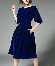 Coeur de Vague Blue  Fit & Flare Dress | zulily