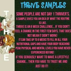 It's an 8 week experience! Do more than a couple days! It seriously will change your life! mishasheedy.Le-Vel.com or instagram @fit.mish