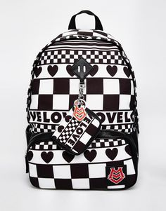 ca31d9bedc96 Image 1 of Love Moschino Printed Backpack New Love