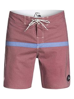 Quiksilver Mens Stripe Scallop 19 Inch Boardshort Cabernet 40 ** View the item in details by clicking the VISIT button