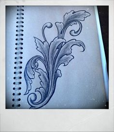 acanthus Leather Carving, Wood Carving, Arabesque, Filagree Tattoo, Left Arm Tattoos, Ornament Drawing, Scroll Pattern, Letter A Crafts, Illuminated Letters