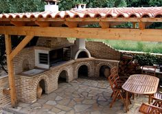 The Perfect Addition to the Home BBQ Hut – Home Decorating Outdoor Kitchen Patio, Pizza Oven Outdoor, Outdoor Kitchen Design, Outdoor Cooking, Patio Design, Outdoor Living, Backyard Pavilion, Backyard Patio, Bbq Hut
