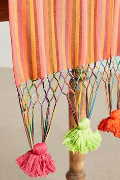 Neon Tassel Table Runner - anthropologie.com