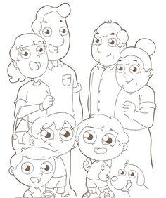 Desenhos para colorir - Familia para colorir