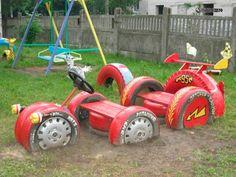 Идеи для детских площадок своими руками
