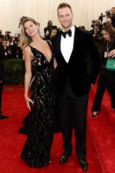 Red carpet del Costume Institute Gala 2014: Tom Brady y Gisele Bundchen en Balenciaga
