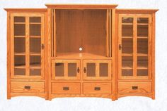 Mission style entertainment center from Amish Furniture Canada, Peterborough, ON Dream Home Design, House Design, Amish Family, Amish Furniture, House Built, Peterborough, Entertainment Center, Solid Oak, Interior Ideas